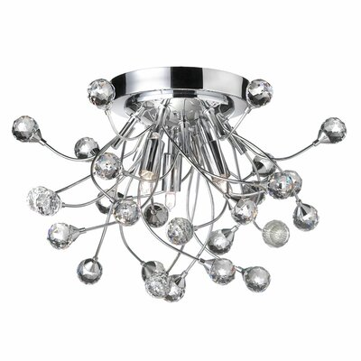 Crystal Buds 3 Light Flush Mount in Polished Chrome Product Photo