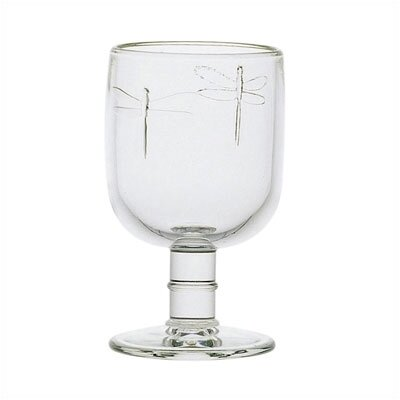 Libellules 10-ounce Dragonfly Water Glasses by La Rochere