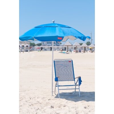 6 ft. Diameter Fiberglass Beach Haven Umbrella - Pacific Blue by Frankford Umbrellas