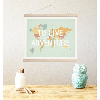 To Live World Map Tapestry Graphic Art by Children Inspire Design