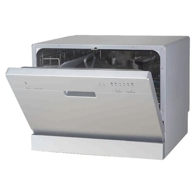 "21.65"" 55 dBA Countertop Dishwasher in Silver  Energy Star Certified Product Photo"