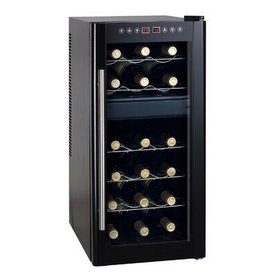 18 Bottle Dual Zone Freestanding Wine Refrigerator by Sunpentown