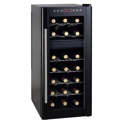 21 Bottle Dual Zone Freestanding Wine Refrigerator by Sunpentown