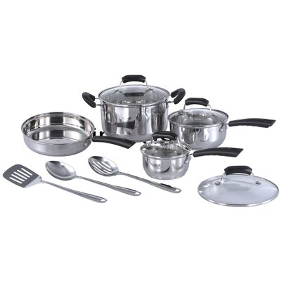 Stainless Steel 11-Piece Cookware Set by Sunpentown
