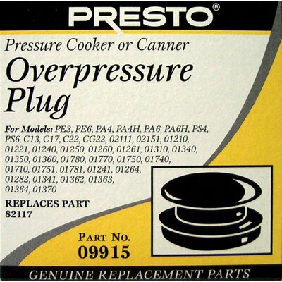 Presto Overpressure Plug