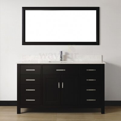 "Celize 60"" Single Bathroom Vanity Set with Mirror Product Photo"