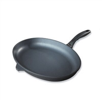 "Swiss Diamond 15"" Oval Frying Pan with Lid"