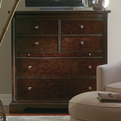 The Classic Portfolio Transitional 6 Drawer Media Chest by Stanley
