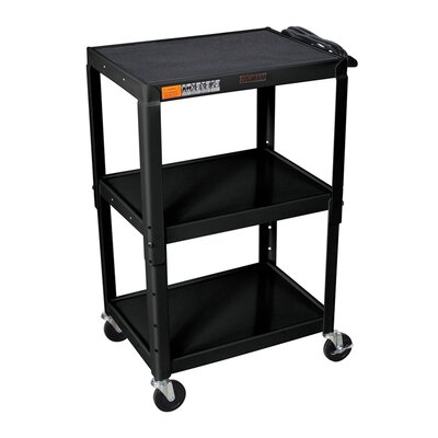 Luxor H Wilson Adjustable Height AV Cart