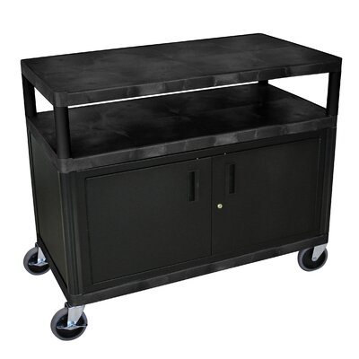 Luxor Extra Wide Coffee Cart with Cabinet