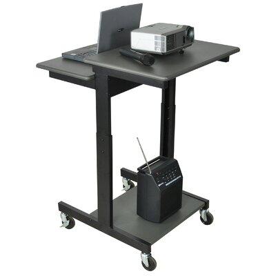 Luxor Mobile Adjustable Height Computer Workstation