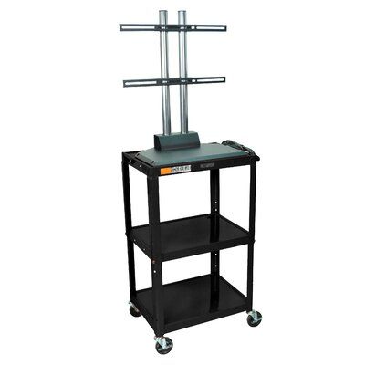 Luxor Adjustable Height Flat Panel Cart