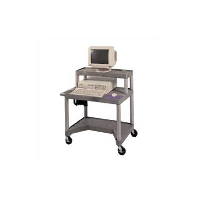 Luxor High Workstation with Leg Room Cut-Out and Monitor Platform