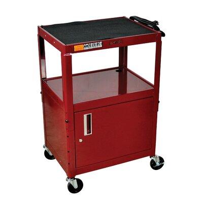 Luxor H Wilson Adjustable Height Cabinet AV Cart