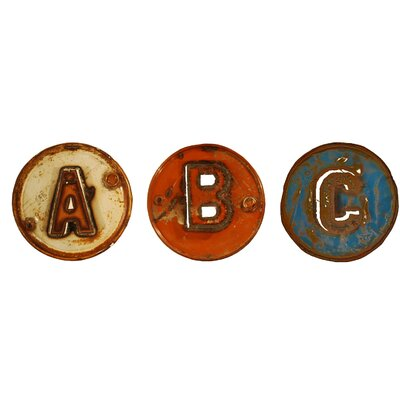 Groovystuff 3 Piece Chris Bruning ABC Piece Wall Décor Set