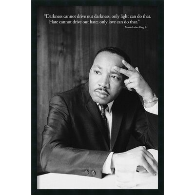 Amanti Art Martin Luther King Jr. - Darkness Framed Photographic Print