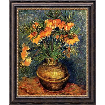 'Crown Imperial Fritillaries in a Copper Vase' by Vincent Van Gogh Framed Painting Print by ...