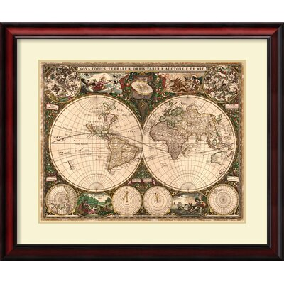 Amanti Art 39 World Map 1660 39 by Ward Maps Framed Graphic Art Re