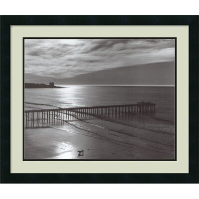Amanti Art 'The Scripps Pier, 1966 - Fiat Lux' by Ansel Adams Framed Photographic Print
