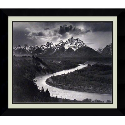 Amanti Art 'The Tetons and the Snake River, Wyoming, 1942' by Ansel Adams Framed Photographic Print