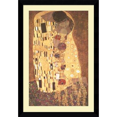Amanti Art 'The Kiss (Le Baiser/Il Baccio)' by Gustav Klimt Framed Painting Print