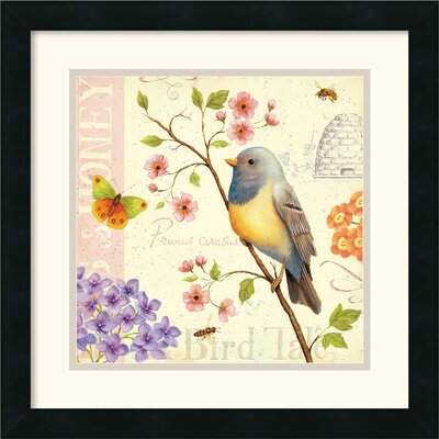 Amanti Art 'Birds and Bees I' by Daphne Brissonnet Framed Graphic Art