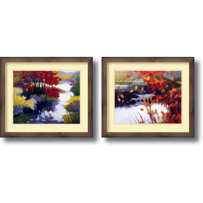 Amanti Art 'Water and Color' by Tadashi Asoma 2 Piece Framed Painting Print Set