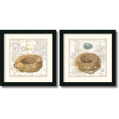 Amanti Art 'Botanical Nest' by MHershey 2 Piece Framed Painting Print Set