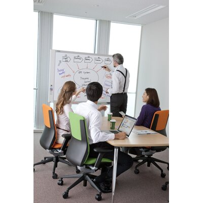 Plus Boards 4 Panel Electronic Copyboard Free-Standing Reversible Interactive Whiteboard, 3' x 5'