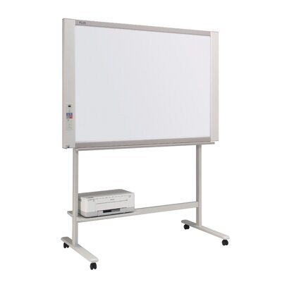 Plus Boards 2 Panel Black and White Electronic Copyboard Free-Standing Reversible  Interactive Whiteboard
