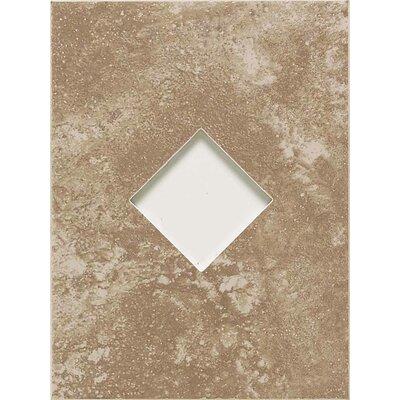 "American Olean Ash Creek 12"" x 9"" Glazed Wall Tile Accent with Diamond Cutout in Walnut"