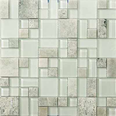Lucente Random Sized Glass Mosaic Tile in Lazzaro Product Photo