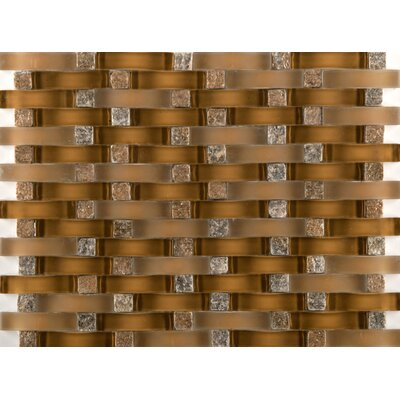 Lucente Venezia Random Sized Glass Mosaic Tile in Brown by Emser Tile
