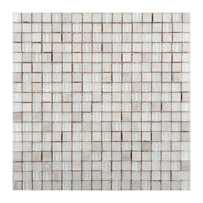 Lucente Campo Glass Mosaic Tile in Ivory by Emser Tile