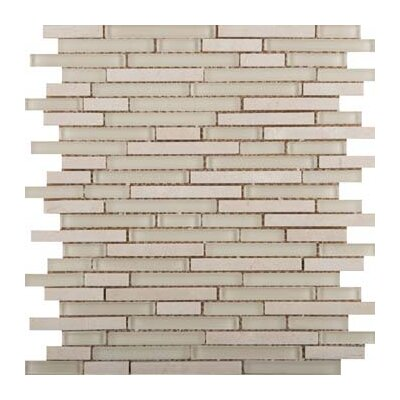 Lucente Random Sized Glass Mosaic Tile in Ivory by Emser Tile