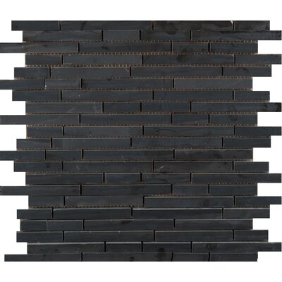 Metro Marble Mosaic Tile in Black by Emser Tile
