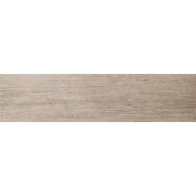 "Emser Tile Country 6"" x 24"" Porcelain Wood Tile in Gray"