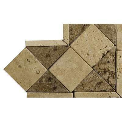 """Emser Tile Natural Stone 4"""" x 4"""" Classic Lt Travertine Listello Corner"""