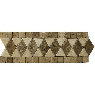 """Emser Tile Natural Stone 12"""" x 4"""" Pisa Travertine Listello"""