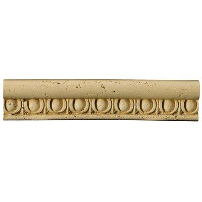 """Emser Tile Natural Stone 12"""" x 2"""" x 0.37"""" Romansa Ovoli Travertine Chair Rail"""