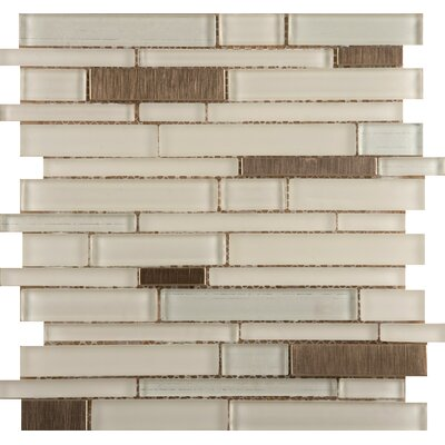 Flash Random Sized Glass Mosaic Tile in Beaming by Emser Tile