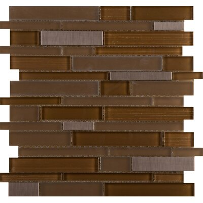 Flash Sized Glass Mosaic Tile in Burnished by Emser Tile