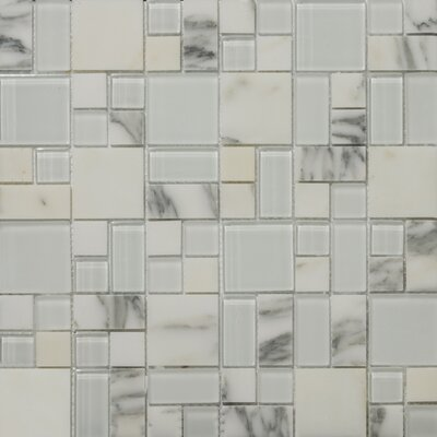 Lucente Random Sized Stone and Glass Mosaic Tile in Ambrato by Emser Tile