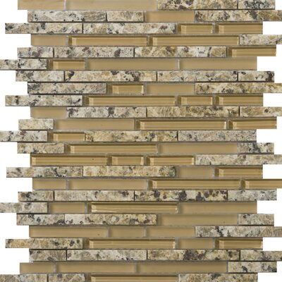 Lucente Random Sized Glass Mosaic Tile in Isola Linear by Emser Tile
