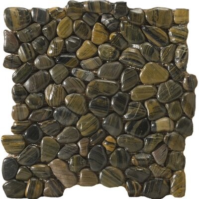 Emser Tile Natural Stone Rivera Random Sized Marble Pebble Tile in Forest