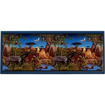 Jungle Scene Wall Plaque by Illumalite Designs