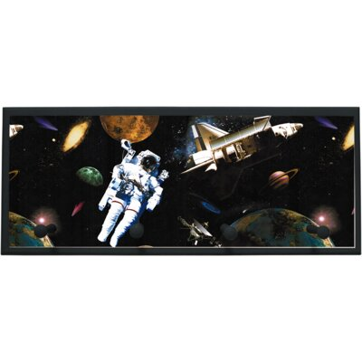 Illumalite Designs Astronauts in Space Wall Plaque with Wooden Pegs