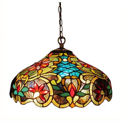 Victorian 2 Light Leslie Ceiling Bowl Pendant by Chloe Lighting