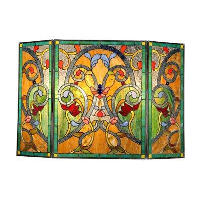 Victorian 3 Panel Myrtle Fireplace Screen by Chloe Lighting