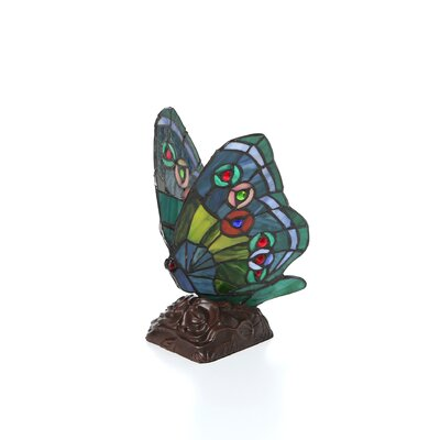 """Chloe Lighting Tiffany Butterfly 10"""" H Table Lamp with Novelty Shade"""